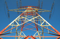 Electric Power Line Pylon Stock Image