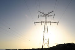 Electric Power Line Pylon Royalty Free Stock Photo