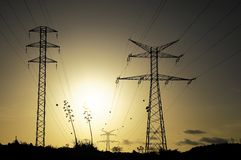 Electric Power Line Pylon Royalty Free Stock Photography