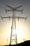 Electric Power Line Pylon Stock Photography