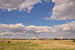 Electric power line Stock Images