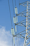 Electric power line tower Royalty Free Stock Image