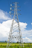 Electric power line tower Royalty Free Stock Photos