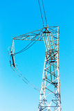 Electric power line tower close-up Royalty Free Stock Image