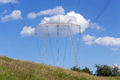 Electric power line tower Royalty Free Stock Photography