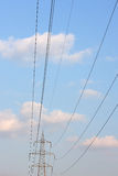Electric power lines Stock Image
