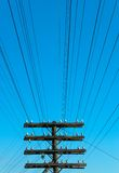 Electric power lines Royalty Free Stock Photos