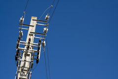 Electric power lines Stock Images