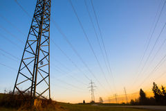 Electric power lines Stock Photography