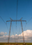 Electric power lines tower Royalty Free Stock Photos