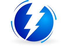 Electric power logo Stock Photography