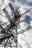 Electric power mast stock photos