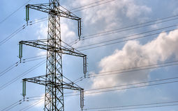 Electric power mast Stock Image