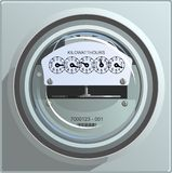 Electric Power Meter Royalty Free Stock Photo
