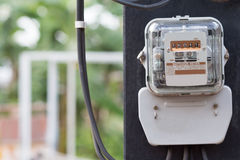 Electric power meter. Stock Images
