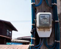 Electric power meter Stock Photography