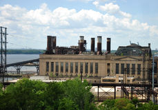 Electric Power Plant. View of Electric Power Plant in Philadelphia, PA Royalty Free Stock Photos