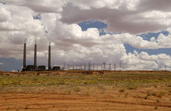 Electric Power Plant. In the desert Stock Images
