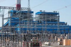 Electric power plant Royalty Free Stock Image