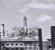 Electric power plant in  genova Stock Images