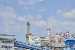 Electric power plant in  genova Stock Photos