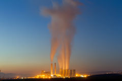 Electric power plant in Kozani Greece. Slow shutter speed.  Stock Photography