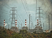 Electric power plant Royalty Free Stock Photo