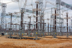 Electric power plant Royalty Free Stock Images