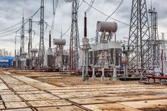 Electric power plant Stock Photos