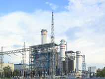 Electric power plant in zhuhai china. Land scape of electric power plant in zhuhai china Stock Image