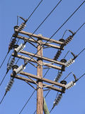Electric Power Pole Stock Image