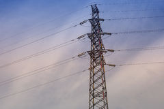 Electric power pole Royalty Free Stock Photography