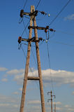 Electric power poles Royalty Free Stock Photography