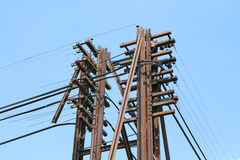 Electric power post Royalty Free Stock Photography