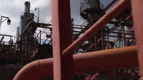 Electric Power posta cena Panorama do interior do central elétrica Tubulações em uma fábrica industrial vídeos de arquivo