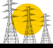 Electric Power pylon Royalty Free Stock Image