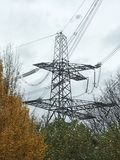 Electric power pylon royalty free stock photos