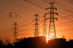 Electric power pylon Stock Images