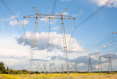 Electric power pylons Royalty Free Stock Photos