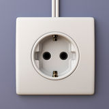 Electric power socket outlet 3D Royalty Free Stock Photo