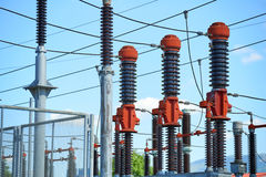 Electric power station Royalty Free Stock Image