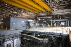 Electric power station, inside Royalty Free Stock Photo