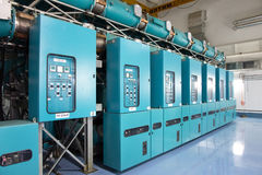 Electric power station, inside Stock Images