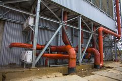 Electric power station, outside Royalty Free Stock Photography