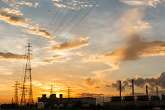 Electric power station Stock Image