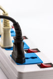 Electric power strip. Stock Photography