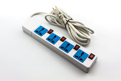 Electric power strip. Royalty Free Stock Photos