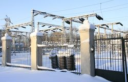 Electric power sub station Stock Photography