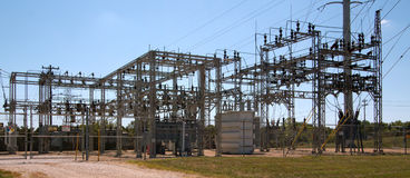 Electric Power Sub Station Royalty Free Stock Images