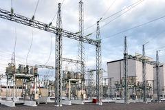 Electric power substation Stock Photos